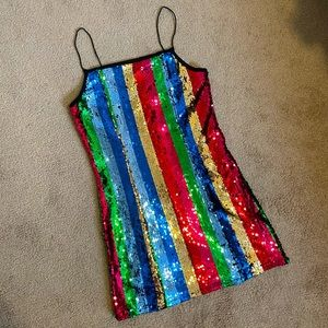 Rainbow Sequin Minidress